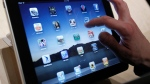The iPad is shown after it was unveiled in San Francisco on Jan. 27, 2010. (AP / Marcio Jose Sanchez)
