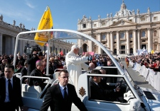 Pope Benedict XVI holds his last General Audience
