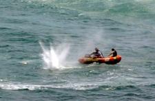 Police shoot at a shark off Muriwai Beach