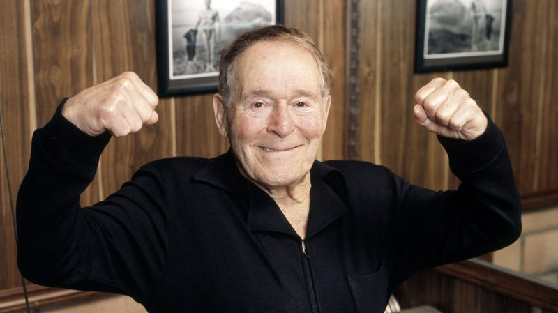 This undated image provided by Ariel Hankin shows fitness pioneer Jack LaLanne, who died Sunday, January 23. (AP Photo/Ariel Hankin)