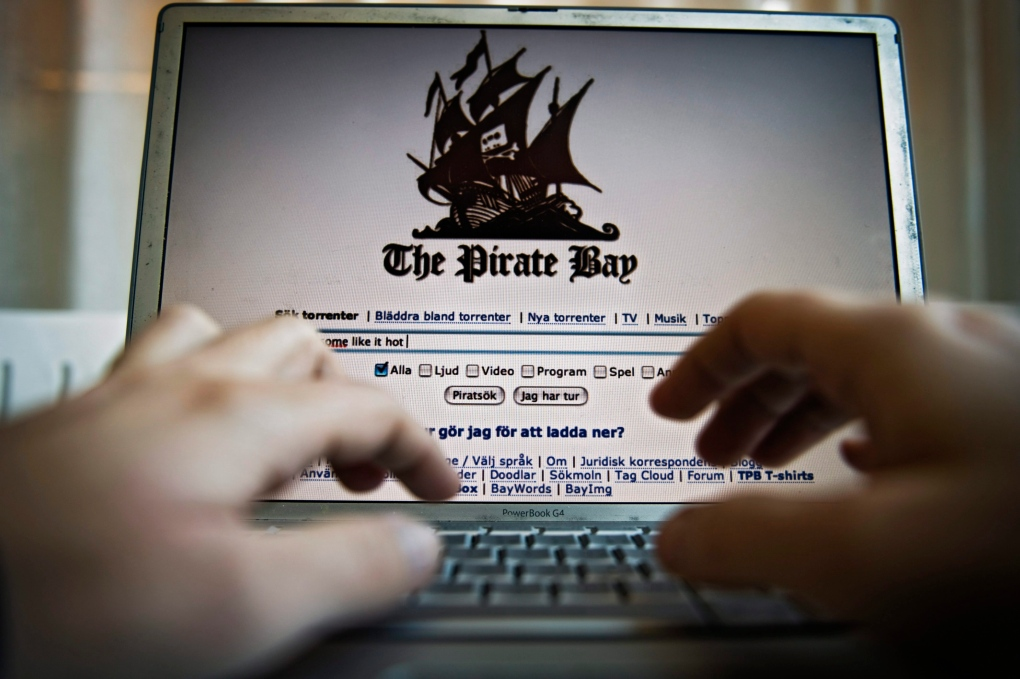 Nov. 21, 2008 image of The Pirate Bay homepage