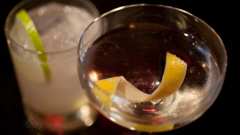 An Agave Margarita, left, and gin Martini, right, are shown in this December 2012 file photo. (AP / Eric Risberg)