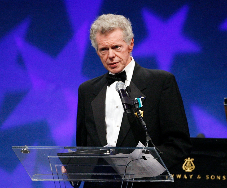Pianist Van Cliburn is seen at the presentation ceremony of the Liberty Medal that was presented to former President of the Soviet Union Mikhail Gorbachev in Philadelphia on Sept. 18, 2008.  (AP / Tom Mihalek)