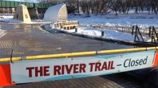River trail closed in Winnipeg
