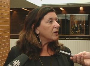 University of Regina president Vianne Timmons responds to spending allegations Wednesday.