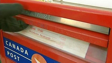 Canada Post mail box