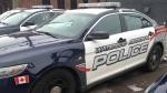 A Waterloo Regional Police vehicle is seen in Waterloo, Ont., on Monday, Feb. 25, 2013. (David Imrie / CTV Kitchener)