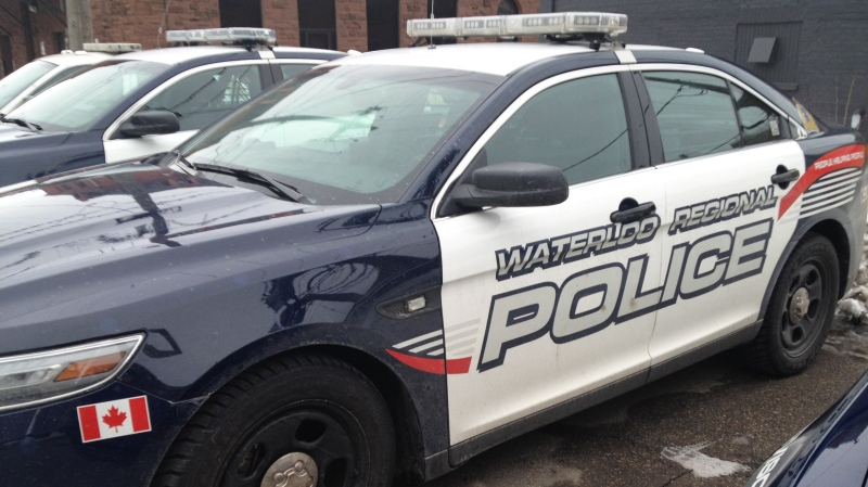 A Waterloo Regional Police vehicle is seen in Waterloo, Ont., on Monday, Feb. 25, 2013. (David Imrie / CTV Kitchener)