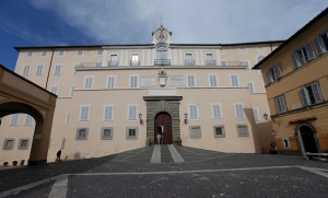 A view of the pope's summer residence of Castel Gandolfo, in the town of Castelgandolfo, south of Rome, Tuesday, Feb. 12, 2013. (AP / Alessandra Tarantino)