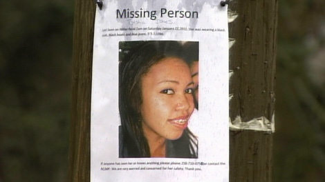 Missing 18-year-old Tyeshia Jones is seen in this undated handout photo.