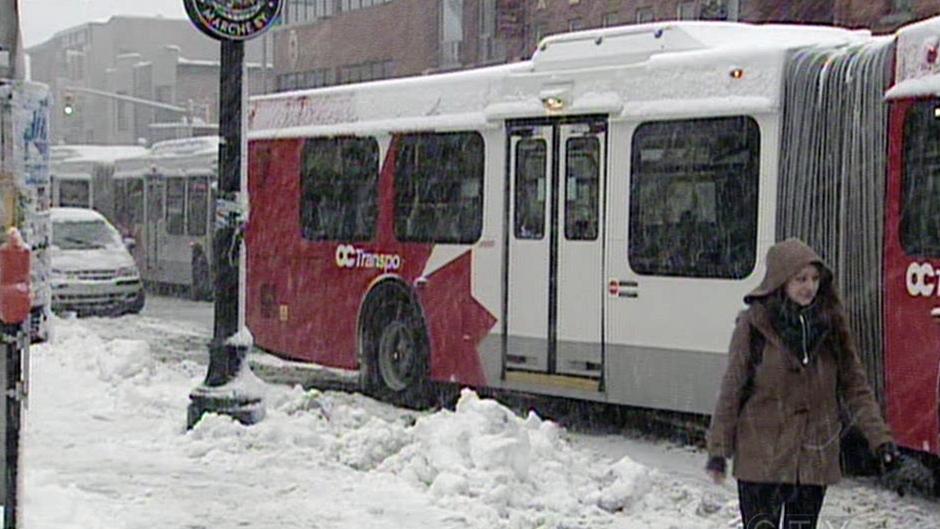 OC Transpo buses stranded