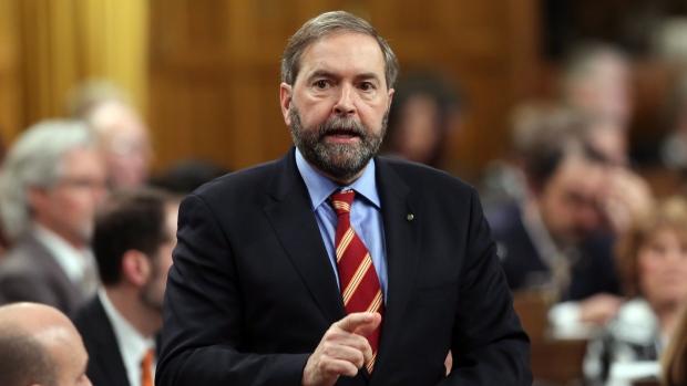 NDP Leader Thomas Mulcair during Question Period