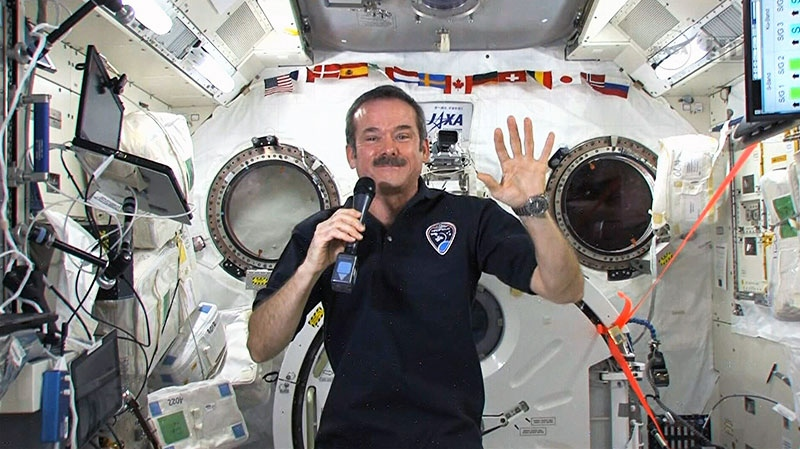 Canadian astronaut Chris Hadfield speaks to Canada AM from the International Space Station, Thursday, Feb. 28, 2013.