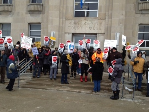 Huron County Court House protest