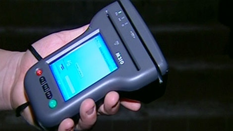 An ID scanner is seen at Molly Bloom's Irish Pub in London, Ont. on Monday, Jan. 24, 2011.