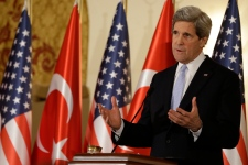 John Kerry in Ankara on March 1, 2013.