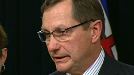Alberta Premier Ed Stelmach announces his resignation, Tuesday, Jan. 25, 2011.