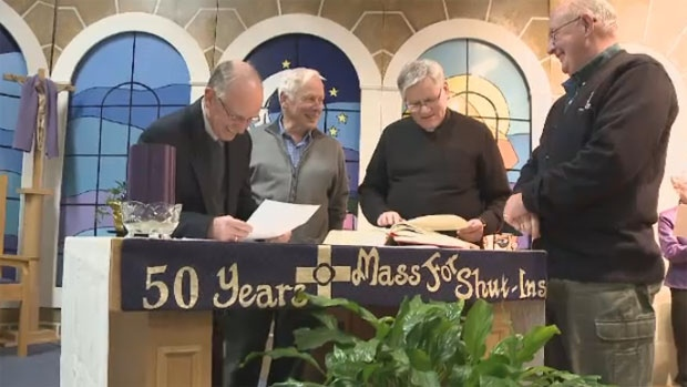 Mass for Shut-ins began in 1963. Since then, the Mass has aired in many Maritime homes Sunday morning.