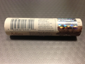 The final roll of Canadian pennies minted for distribution is shown, bearing the hologram 20,000/20,000. (Provided)