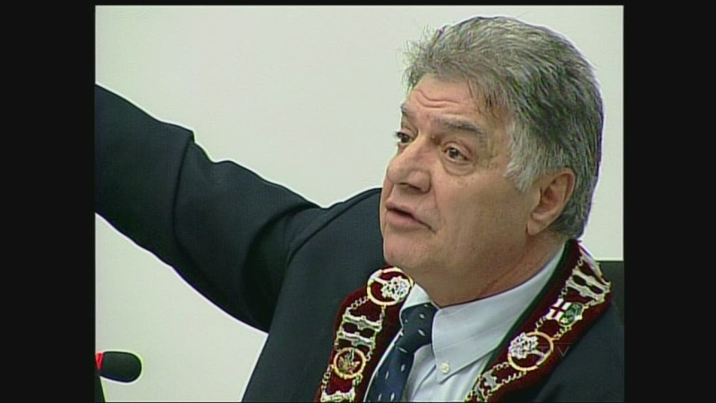 London Mayor Joe Fontana is seen at the final budget decision meeting in London, Ont. on Thursday, Feb. 28, 2013.