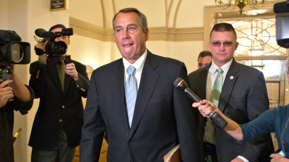 House Speaker John Boehner of Ohio arrives on Capitol Hill in Washington, Friday, March 1, 2013. (AP / J. Scott Applewhite)