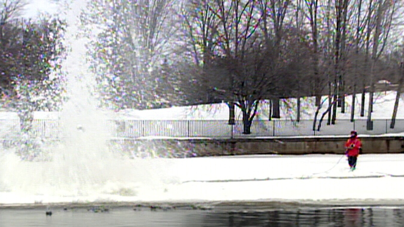 Blasting the Rideau River