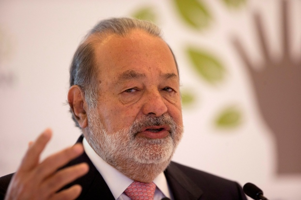 Carlos Slim on Jan. 14, 2013.