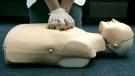 A person participates in an American Red Cross CPR training in Washington, Sept. 15, 2006. (AP / Haraz N. Ghanbari)