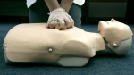 A person participates in an American Red Cross CPR training in Washington, Sept. 15, 2006. (AP / Haraz N. Ghanbari)