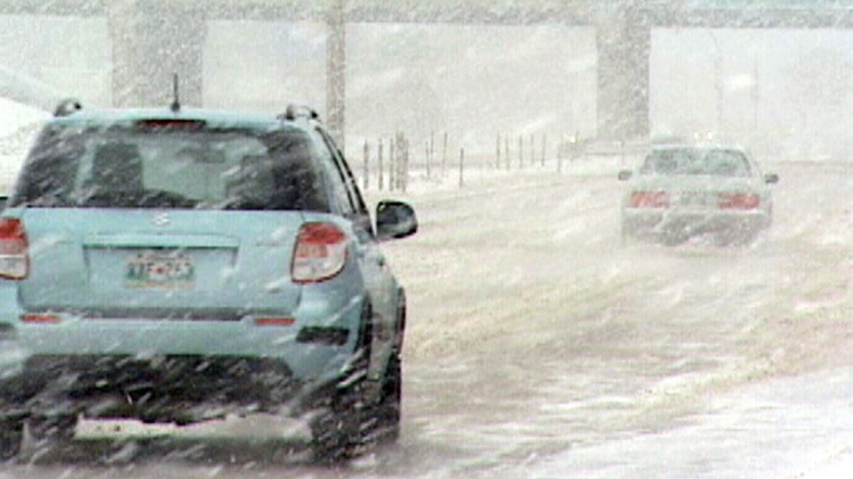 A massive storm blasted across the Southern Prairies causing chaos for commuters.