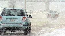 major winter storm blasted across the Prairies