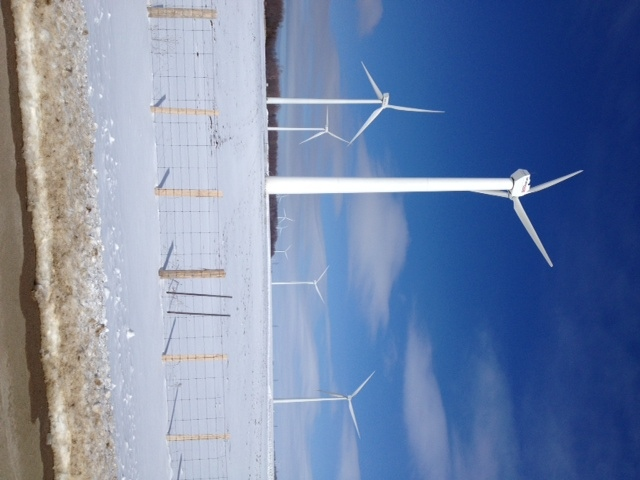 The Enbridge wind farm near Kincardine, Ont. is seen on Tuesday, March 5, 2013. (Scott Miller / CTV London)