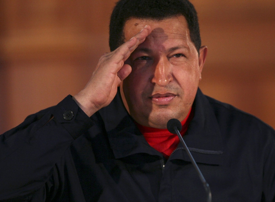 Venezuelan President Hugo Chavez has died after lengthy battle with cancer. (AP / Ariana Cubillos)