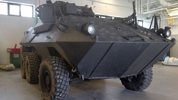 The New Glasgow Police is the only force in Atlantic Canada with an armoured Cougar. (CTV Atlantic)