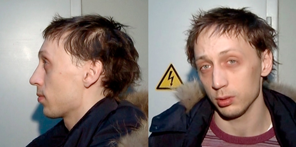 In this combo frame grab taken from video supplied by the Moscow Interior Ministry branch website on Wednesday, March 6, 2013, 29-year-old Pavel Dmitrichenko, the star Russian ballet dancer is seen in Moscow.  (AP Photo/ Moscow Interior MInistry branch website)