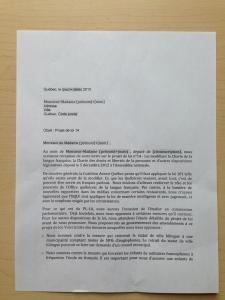CAQ bill 14 letter pg 1