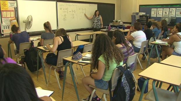 Junior high classroom file photo
