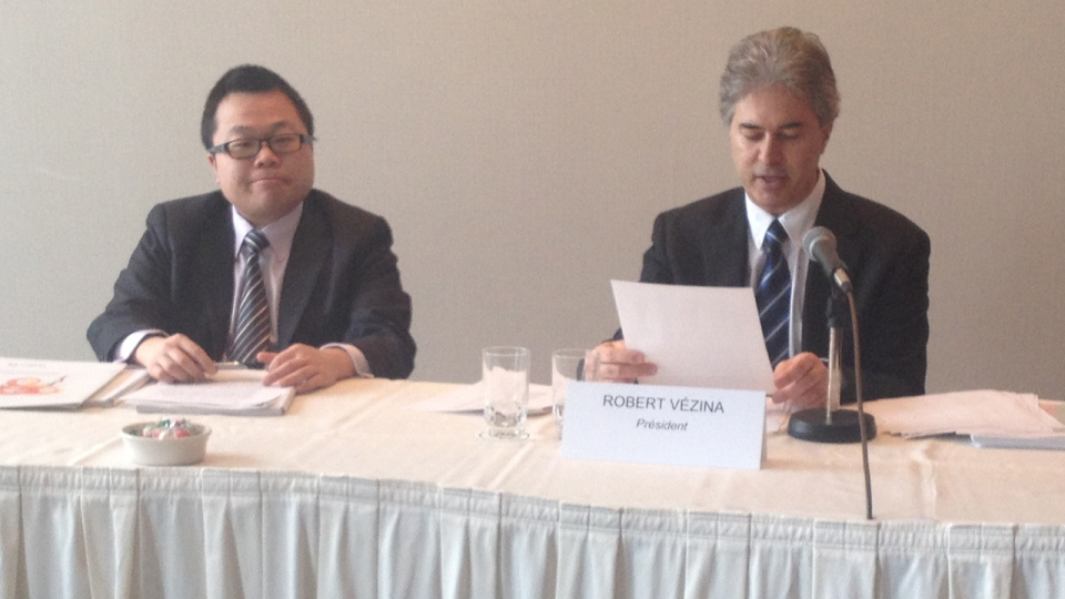 Winston Chan and Robert Vezina of the Conseil superieur de la langue francaise (CTV Montreal/Fred Bissonnette)