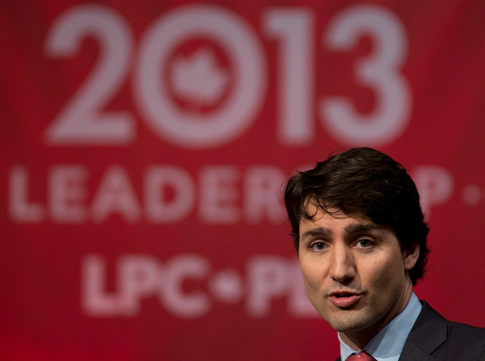 Justin Trudeau speaks at the Liberal party leadership debate in Halifax on March 3, 2013. (Andrew Vaughan/THE CANADIAN PRESS)