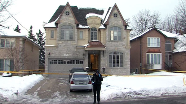 A man in his 50s was stabbed twice during a home invasion at a North York home Saturday, Jan. 29, 2011, resulting in non-life threatening injuries.