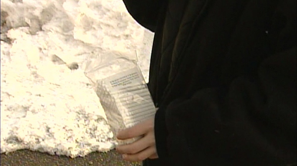 Contraband cigarettes are shown in this video image.