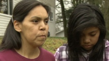 Tyeshia Jones' family speaks to CTV News the day after a young woman's body was found near Duncan, B.C. Jan. 29, 2011. (CTV)