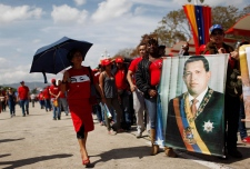 Hugo Chavez lies in state
