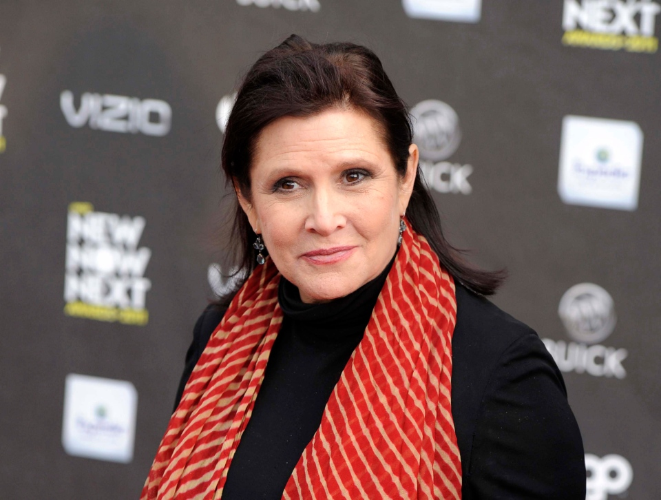 This April 7, 2011 file photo shows Carrie Fisher at the 2011 NewNowNext Awards in Los Angeles. (AP Photo/Chris Pizzello)