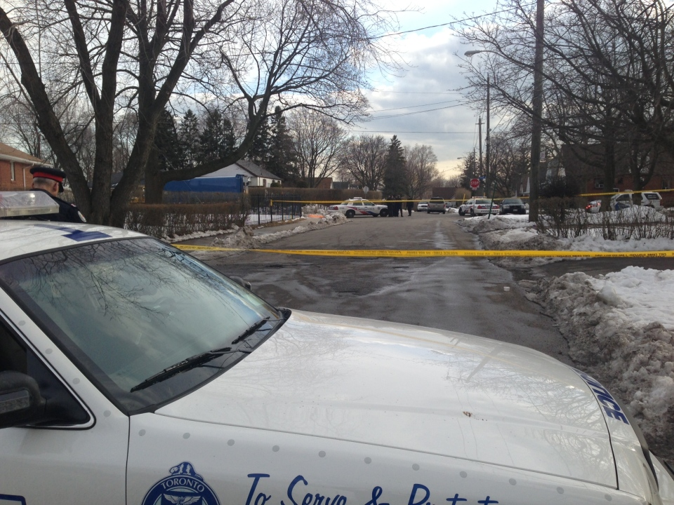 A girl was struck and killed at Cliffside Drive and East Haven Drive, near Kingston Road, Thursday afternoon. (Danny Pinto/CTV Toronto)
