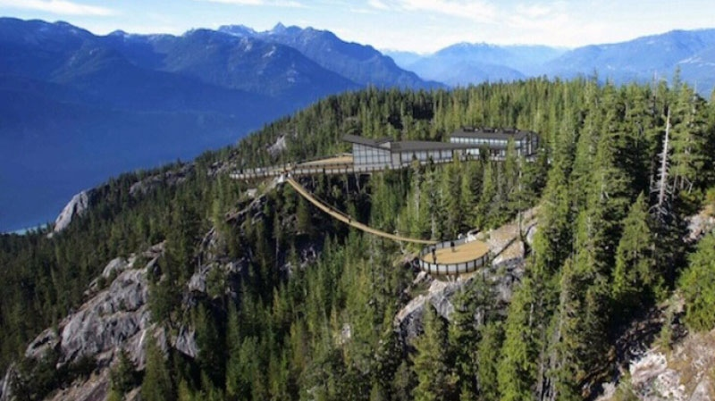 The Sea to Sky Gondola will take riders 2,700 feet above Howe Sound to a terminal with dining and exhibits. Mar. 7, 2013.