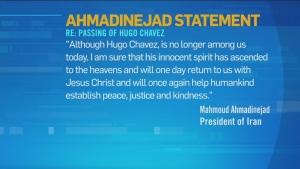 CTV News Channel: Ahmadinejad's statement