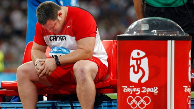 Canadian shot-putter may get Beijing bronze