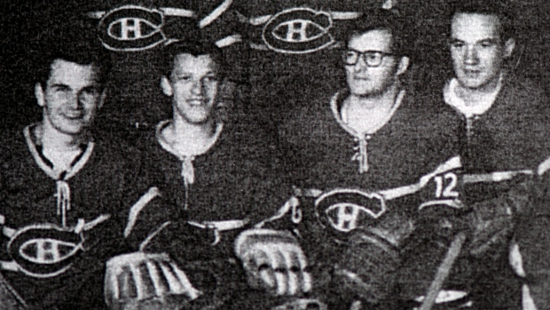 Marc Cardinal Ouellet with hockey team