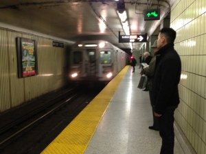 A subway train pulls into Osgoode Station in this file photo. (Chris Kitching/CP24)